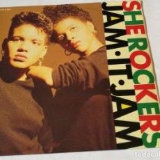 Discos de vinilo: SHE ROCKERS - JAM IT JAM - 1989. Lote 182909875