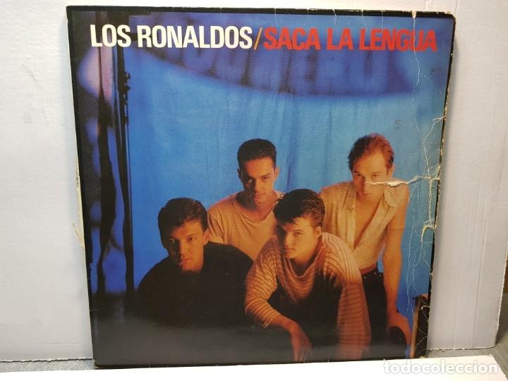 LP -LOS RONALDOS-SACA LA LENGUA FUNDA ORIGINAL 1988 (Música - Discos - LP Vinilo - Grupos Españoles de los 70 y 80)