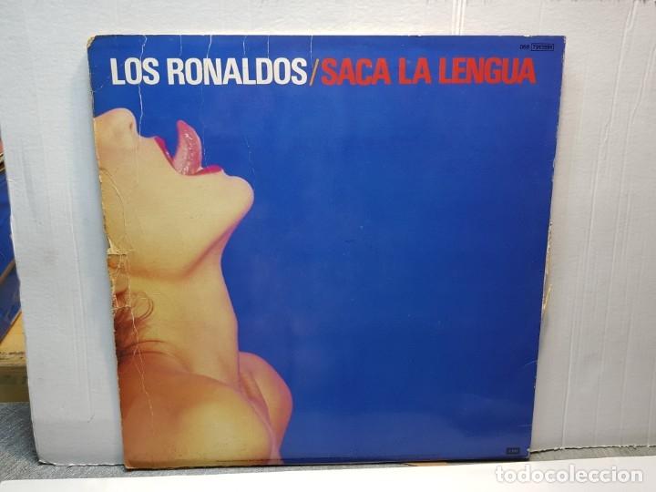 Discos de vinilo: LP -LOS RONALDOS-SACA LA LENGUA funda original 1988 - Foto 2 - 182910987