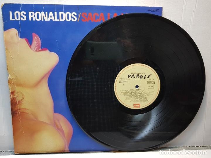 Discos de vinilo: LP -LOS RONALDOS-SACA LA LENGUA funda original 1988 - Foto 3 - 182910987