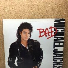 Discos de vinilo: MICHAEL JACKSON LP BAD 1987 MADRID REY DEL POP. Lote 182912371
