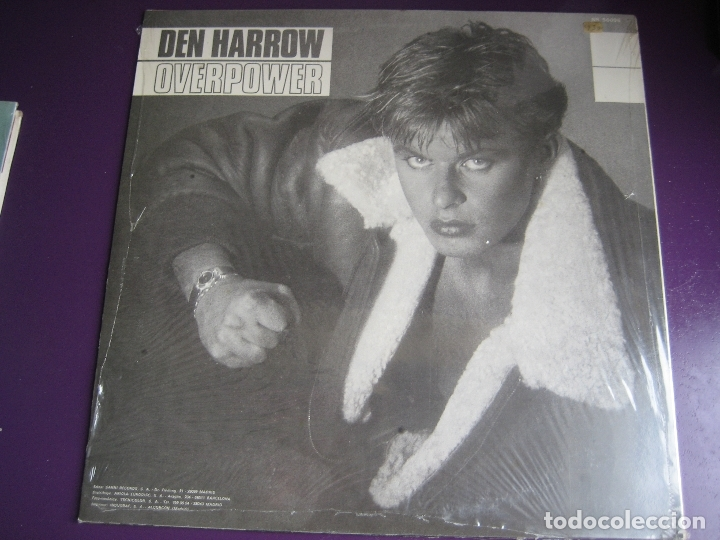 Discos de vinilo: Den Harrow LP SANNI BABY RECORDS 1985 PRECINTADO - Overpower - ITALODISCO - SYNTH POP DISCO 80'S - Foto 2 - 182912785