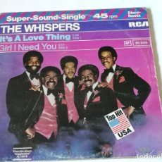 Discos de vinilo: THE WHISPERS - IT'S A LOVE THING - 1980. Lote 182912791