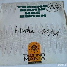 Discos de vinilo: TECHNOMANIA FEAT. MISSY T. - TECHNOMANIA HAS BEGUN - 1991. Lote 182913292