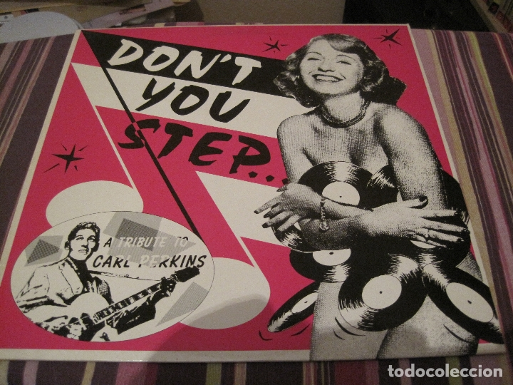 LP- DON´T YOU STEP...A TRIBUTE TO CARL PERKINS ROCKHOUSE RECORDS 9004 NEO ROCKABILLY RECOPILACION (Música - Discos - LP Vinilo - Rock & Roll)