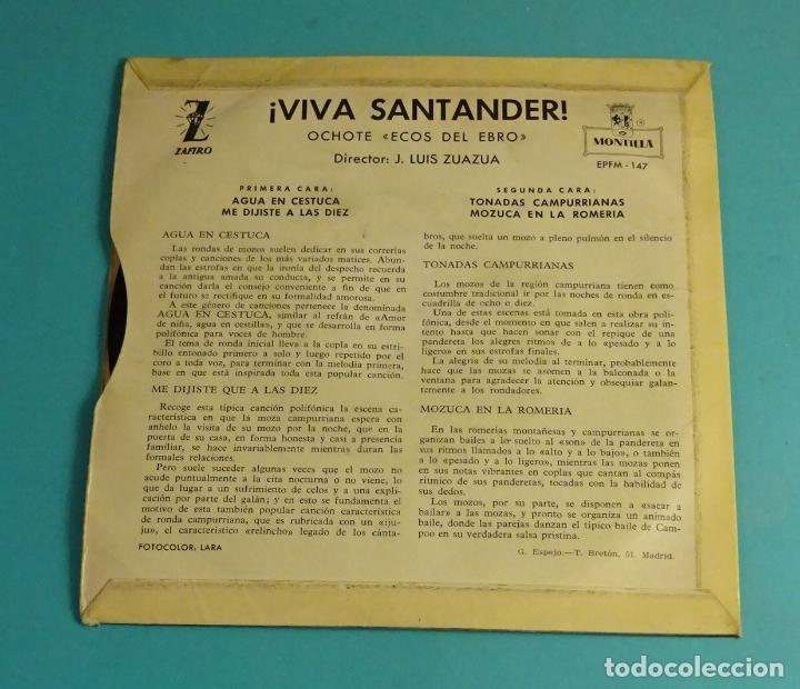 Discos de vinilo: OCHOTE ECOS DEL EBRO. DIRECTOR: J. LUIS ZUAZUA. MONTILLA - ZAFIRO 1960 - Foto 2 - 182945487