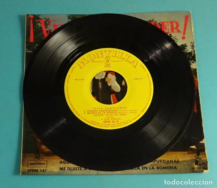 Discos de vinilo: OCHOTE ECOS DEL EBRO. DIRECTOR: J. LUIS ZUAZUA. MONTILLA - ZAFIRO 1960 - Foto 3 - 182945487