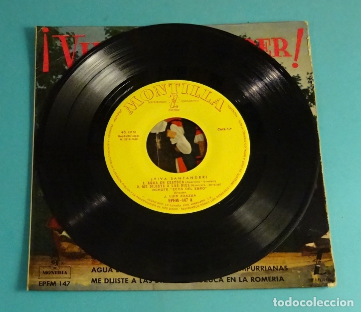 Discos de vinilo: OCHOTE ECOS DEL EBRO. DIRECTOR: J. LUIS ZUAZUA. MONTILLA - ZAFIRO 1960 - Foto 4 - 182945487