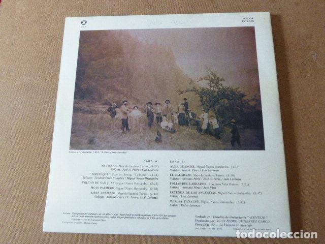 Discos de vinilo: LOS ARRIEROS. ADAMACANSIS. GRABACIONES ACENTEJO, 1986. TEMA CANARIAS. - Foto 3 - 182948813