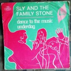 Discos de vinilo: SÓLO PORTADA SLY AND THE FAMILY STONE – DANCE TO THE MUSIC / UNDERDOG SPAIN 1968 . Lote 182949698