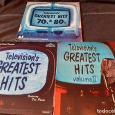 Discos de vinilo: TELEVISION GREATEST HITS 3 LPS DOBLES. Lote 182950095