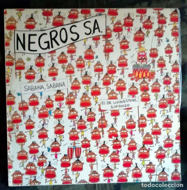 NEGROS S.A. – SABANA, SABANA SPAIN 1983 ANA CURRA,NACHO CANUT,ALASKA,PARALISIS PERMANENTE (Música - Discos de Vinilo - Maxi Singles - Grupos Españoles de los 70 y 80)