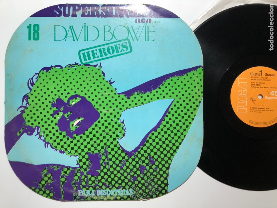 MAXI SINGLE VINILO 12'' DAVID BOWIE HEROES EDICIÓN PARA DISCOTECAS 1977 ESPAÑA (Música - Discos de Vinilo - Maxi Singles - Pop - Rock Internacional de los 70)