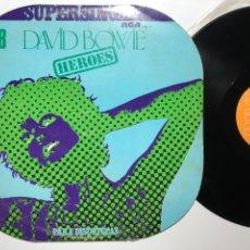 Discos de vinilo: MAXI SINGLE VINILO 12'' DAVID BOWIE HEROES EDICIÓN PARA DISCOTECAS 1977 ESPAÑA. Lote 182959793
