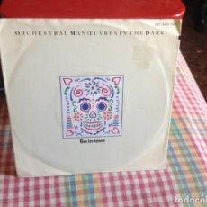 Discos de vinilo: OMD - SO IN LOVE / CONCRETE HANDS SINGLE MADE IN GERMANY 1985. Lote 182961556
