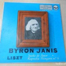 Dischi in vinile: BYRON JANIS, PIANISTA - LISZT -, EP, SUEÑO DE AMOR + 1, AÑO 1959. Lote 182962770