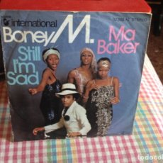 Discos de vinilo: BONEY M. - STILL I´M SAD / MA BAKER SINGLE MADE IN GERMANY 1977. Lote 182963481