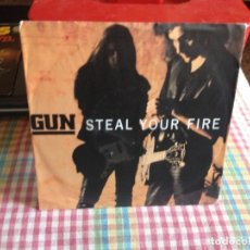 Discos de vinilo: GUN - STEAL YOUR FIRE / SINGLE MADE IN GERMANY 1982. Lote 182965113