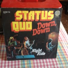 Discos de vinilo: STATUS QUO - DOWN DOWN / NIGHT RIDE / SINGLE VERTIGO MADE IN GERMANY 1974. Lote 182965360