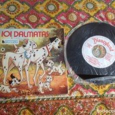 Discos de vinilo: 101 DÁLMATAS CUENTADISCO BRUGUERA. Lote 182965928