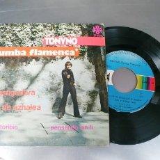Discos de vinilo: TONYNO-EP CASTIGADORA +3-RUMBAS FLAMENCAS-INENCONTRABLE. Lote 182965985