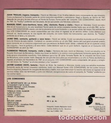 Discos de vinilo: Disco deL GRUPO COMODINES - LA MAYORIA MUSICOS DE MANRESA - happyband - Foto 3 - 182800286