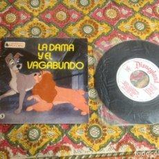 Discos de vinilo: LA DAMA Y EL VAGABUNDO CUENTADISCO BRUGUERA. Lote 182967201