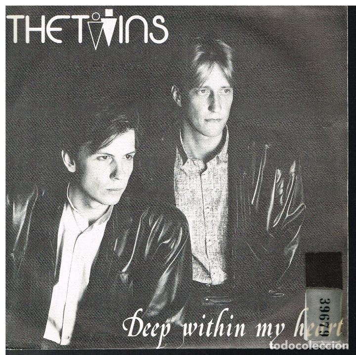 THE TWINS - DEEP WITHIN MY HEART / TALK TO ME - SINGLE 1986 (Música - Discos de Vinilo - Singles - Pop - Rock Extranjero de los 80)