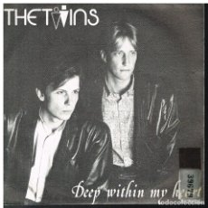 Discos de vinilo: THE TWINS - DEEP WITHIN MY HEART / TALK TO ME - SINGLE 1986. Lote 182970752