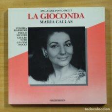 Discos de vinilo: MARIA CALLAS - LA GIOCONDA - CONTIENE LIBRETO - BOX 3 LP. Lote 182971940