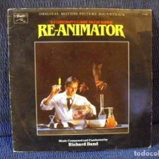 Discos de vinilo: RE-ANIMATOR (LP) (BANDA SONORA ORIGINAL) (RICHARD BAND). Lote 182975410