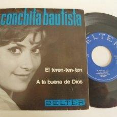 Discos de vinilo: CONCHITA BAUTISTA-EP SINGLE A LA BUENA DE DIOS. Lote 182976360