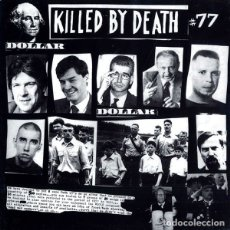 Discos de vinil: V/A KILLED BY DEATH LP . PUNK GLO ATTENTANT KJOTT ICE AND THE ICED CHAINSAW FILTH. Lote 182977061