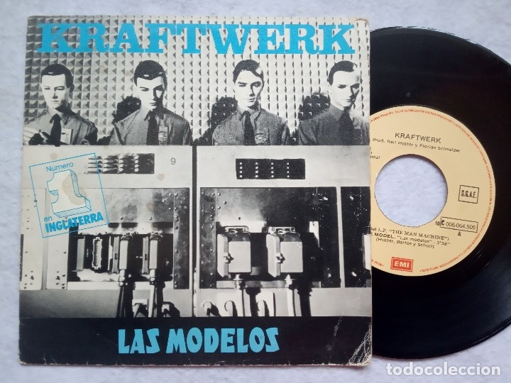 Discos de vinilo: KRAFTWERK - las modelos (the model) / computer love - SINGLE 1982 - EMI - Foto 1 - 182986137