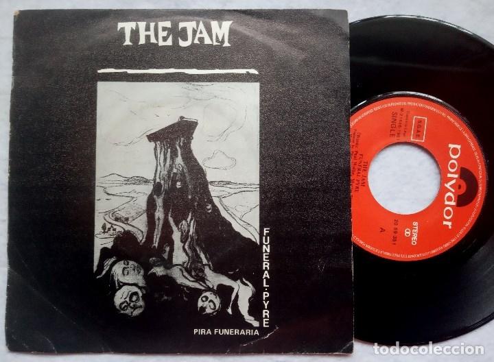 THE JAM - FUNERAL PYRE / DISGUISES - SINGLE ESPAÑOL 1982 - POLYDOR (Música - Discos de Vinilo - Singles - Pop - Rock Extranjero de los 80)