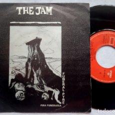 Discos de vinilo: THE JAM - FUNERAL PYRE / DISGUISES - SINGLE ESPAÑOL 1982 - POLYDOR. Lote 182987147