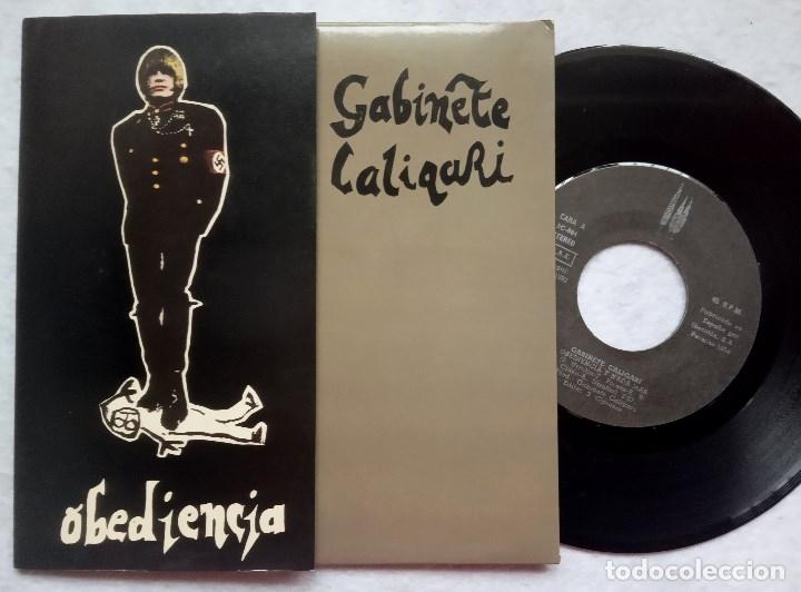 GABINETE CALIGARI - OBEDIENCIA - SINGLE PORTADA DOBLE 1982 - 3 CIPRESES (Música - Discos - Singles Vinilo - Grupos Españoles de los 70 y 80)