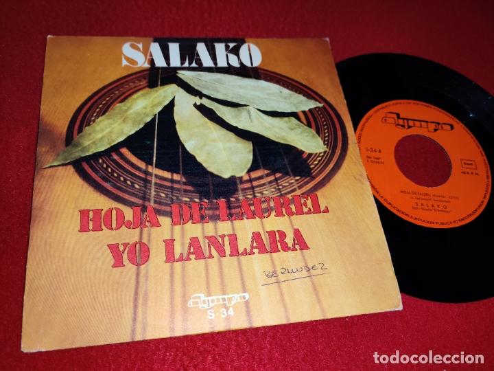 SALAKO HOJA DE LAUREL/YO LANLARA 7'' SINGLE 1974 OLYMPO RUMBA (Música - Discos - Singles Vinilo - Flamenco, Canción española y Cuplé)