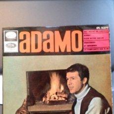 Discos de vinilo: ADAMO - UNE MECHE DE CHEVEUX + 3. EMI AÑO 1966. Lote 182991383