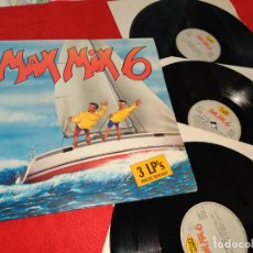 Discos de vinilo: MAX MIX 6 3LP 1988 MAX MIX GATEFOLD SPAIN ESPAÑA RECOPILATORIO DAVID LYME+MACHO GANG+49 ERS+ETC. Lote 182993666