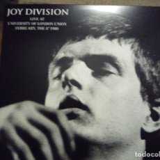 Discos de vinilo: JOY DIVISION-LIVE AT UNIVERSITY OF LONDON UNION-8 FEB. 1980. Lote 183000115