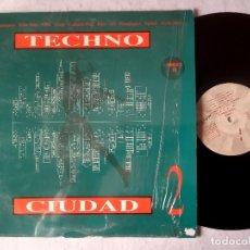 Discos de vinilo: VARIOS - TECHNO CIUDAD 2 - LP ESPAÑOL 1993 - DRO. Lote 183002361