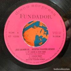 Discos de vinilo: NUESTRO PEQUEÑO MUNDO - ¡QUÉ GRANDE ES...! - 7'' EP FUNDADOR 1972. Lote 183006387
