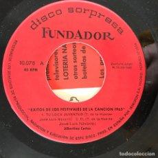 Discos de vinil: ALBERTINA CORTÉS - ÉXITOS DE LOS FESTIVALES DE LA CANCIÓN 1965 - 7'' EP FUNDADOR 1965. Lote 208328971