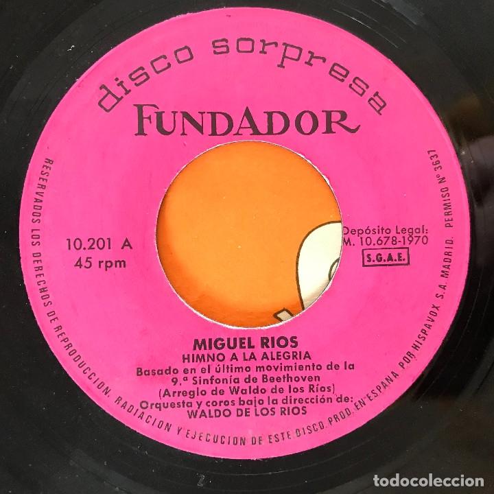 MIGUEL RÍOS - HIMNO A LA ALEGRÍA - 7'' EP FUNDADOR 1970 (Música - Discos de Vinilo - EPs - Solistas Españoles de los 70 a la actualidad)
