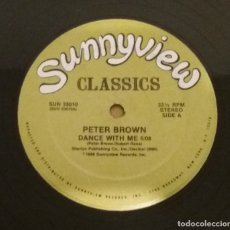 Discos de vinilo: PETER BROWN / DANCE WITH ME / MAXI-SINGLE 12 INCH. Lote 183010958