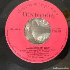 Discos de vinilo: VV.AA. - CONTINUEMOS CON RITMO - 7'' EP FUNDADOR 1968. Lote 183012382