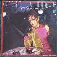 Discos de vinilo: CAROLINE LOEB. C'EST LA OUATE. BARCLAY 885 341-1. ESPAÑA, 1986. CARPETA VG++. DISCO VG++.. Lote 183018426