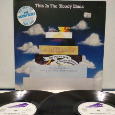 Discos de vinilo: THE MOODY BLUES - THIS IS THE MOODY BLUES 2XLP 1974 ED ALEMANA GATEFOLD. Lote 183019118