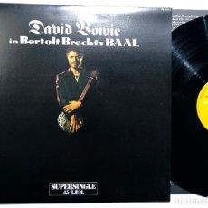 Discos de vinilo: MAXI SINGLE VINILO 12'' DAVID BOWIE – DAVID BOWIE IN BERTOLT BRECHT'S BAAL EDICION ESPAÑOLA DE 1982. Lote 183030922